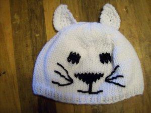 Child Size Cat Hat, Hand Knit - Free USA Shipping!