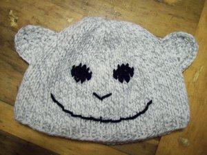 Child Size Monkey Hat, Hand Knit - Free USA Shipping!
