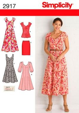 Simplicity 2917 Miss/Plus Size Dresses