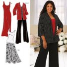 Simplicity 2948 Plus Size Knit Dress, Top, Jacket, Pants & Skirt Khaliah Ali 18W-24W