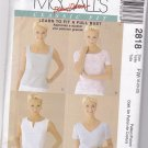 McCalls 2818 Classic Fit Tops 18-22