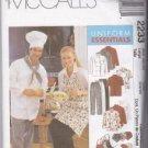 MCCALLS 2233  Misses & Men Uniform Chef Jacket & Pants 42-44