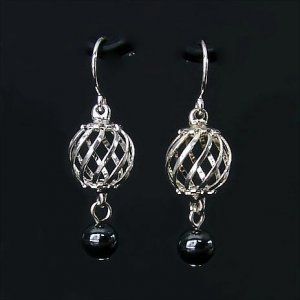 Uncaged Hematite Earrings