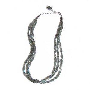 Labradorite Triple Strand Necklace