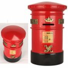 Red round British  Post box Money Bank / Souvenir/piggy coin
