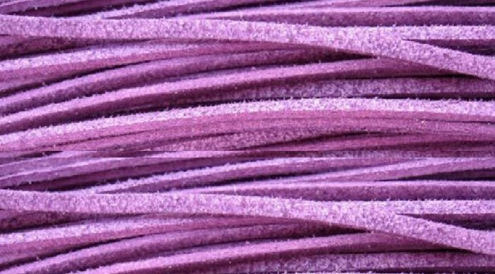 100m purple suede jewelry cord 2mm