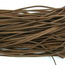 80m dark coffee wax cotton jewelry cord 2mm