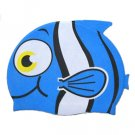Kid swimming pool fish swim silicon fabric cap/bathing cap