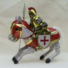 Red Cross Tin wind up Toy Horse Knight Ridder