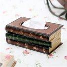 Wooden Stack BOOK wood tissue box holder souvenir/gift