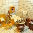 Doll house Miniature toilet Bathroom pretend toy NIB