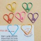 Lot of 100pcs Paper Clip ❤ Heart  ❤ Shaped heart/Bookmark