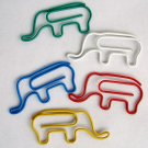 Lot of 96pcs Paper Clip ELEPHANT Shaped animal/Bookmark
