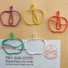 Lot of 96pcs Paper Clip APPLE Shaped/bookmark