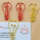 Lot of 96pcs Paper Clip BULB Shaped/bookmark