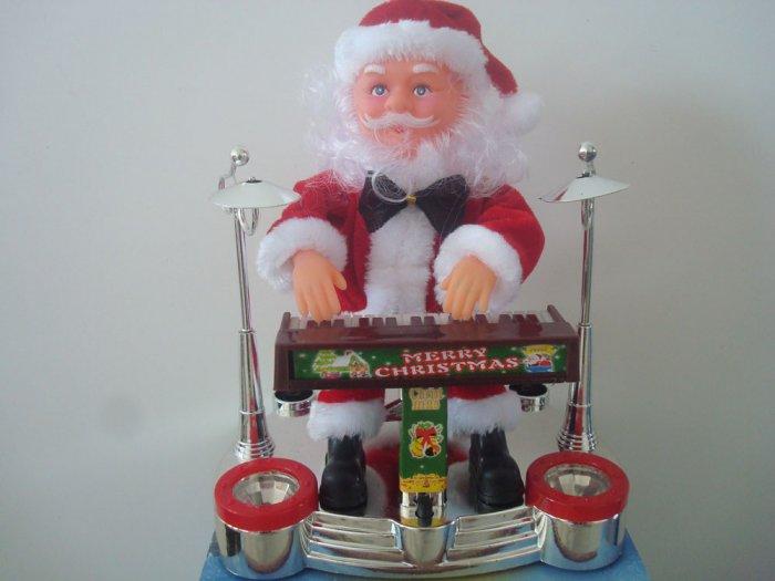 Christmas electronic music animated santa claus playing