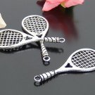Lot of 100pcs mini Badminton Racket doll house miniature toy/jewelry Charm