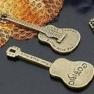 Lot of 100pcs mini Brass Guitar dollhouse miniature toy/jewelry Charm B2