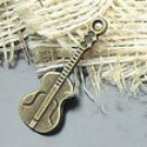 Lot of 500pcs mini Brass Guitar dollhouse miniature toy/jewelry Charm B1