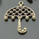 Lot of 100pcs mini Brass Umbrella dollhouse miniature toy/jewelry Charm B3