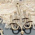 Lot of 100pcs mini brass Candleholder dollhouse miniature toy/jewelry Charm