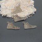 Lot of 200pcs mini Brass Sport Shoe dollhouse miniature toy/jewelry Charm