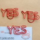 Lot of 96pcs Paper Clip YES Shaped/bookmark