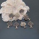 Lot of 200pcs mini Brass Tree dollhouse miniature toy/jewelry Charm CM887