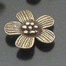 Lot of 100pcs mini brass Flower dollhouse miniature toy/jewelry Charm B7