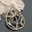 Lot of 300pcs mini Brass raindrop flower dollhouse miniature toy/jewelry Charm B9