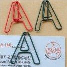 Lot of 96pcs Paper Clip A  Alphabet Shaped/bookmark