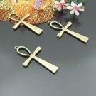 Lot of 100pcs mini Brass CROSS dollhouse miniature toy/jewelry Charm B3