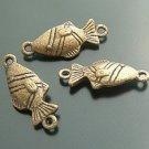 Lot of 200pcs mini Brass Fish dollhouse miniature toy/jewelry Charm B2