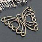 Lot of 300pcs mini Brass Butterfly Horn dollhouse miniature toy/jewelry Charm B2
