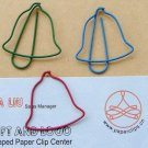 Lot of 96pcs Paper Clip Christmas Bell Shaped/bookmark