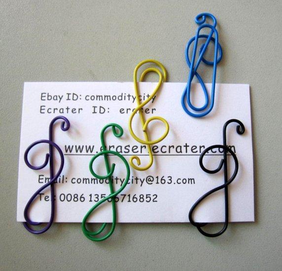 Lot of 100pcs Paper Clip MUSIC Shaped/bookmark