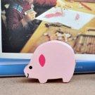 Memo & Name Card Holder Stand Pink Pig Animal Shaped