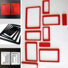 Lot of 2 Sets 3D Solid Square wood Wall Stickers/home decor