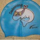 Kid Swimming Pool Dolphine Swim Silicon Fabric Cap/Bathing Cap