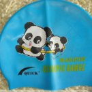 Kid Swimming Pool Panda Swim Silicon Fabric Cap/Bathing Cap