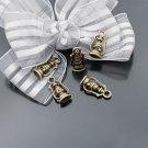 Lot of 300pcs mini Brass Hurricane Lamp/lantern dollhouse miniature toy/jewelry Charm