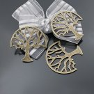 Lot of 100pcs mini Brass tree dollhouse miniature toy/jewelry bracelet metal alloy Charm B7 CM901