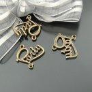 Lot of 300pcs mini Brass Party Word dollhouse miniature toy/jewelry metal alloy Charm