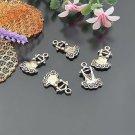 Lot of 200pcs mini Brass Skirt dollhouse miniature toy/jewelry Charm B5