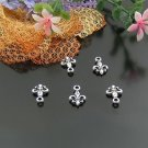 500 x mini silver Fleur de Lys dollhouse miniature toy/jewelry bracelet alloy Charm