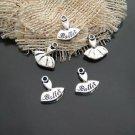 Lot of 200pcs mini Silver Ballet skirt dollhouse miniature toy/jewelry bracelet metal alloy Charm