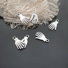 Lot of 500pcs mini Silver Hand dollhouse miniature toy/jewelry bracelet alloy Charm B2