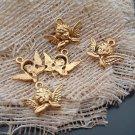 Lot of 50pcs mini Gold Angel dollhouse miniature toy/jewelry bracelet alloy Charm