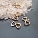 Lot of 500pcs mini Gold Bow dollhouse miniature toy/jewelry bracelet alloy Charm