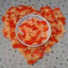Lot of 480pcs Fake Orange Wedding Blue Rose Petal Life Size